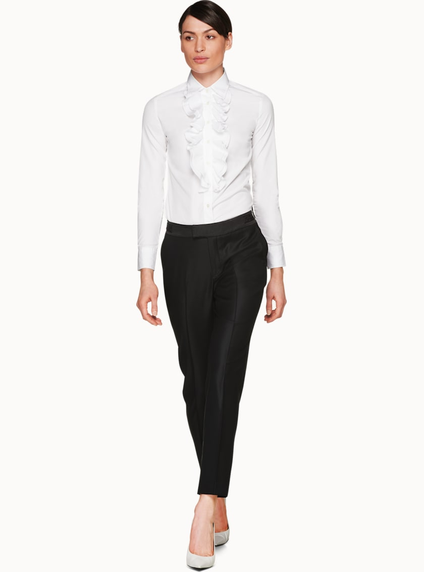 Anise White  Ruffle Shirt