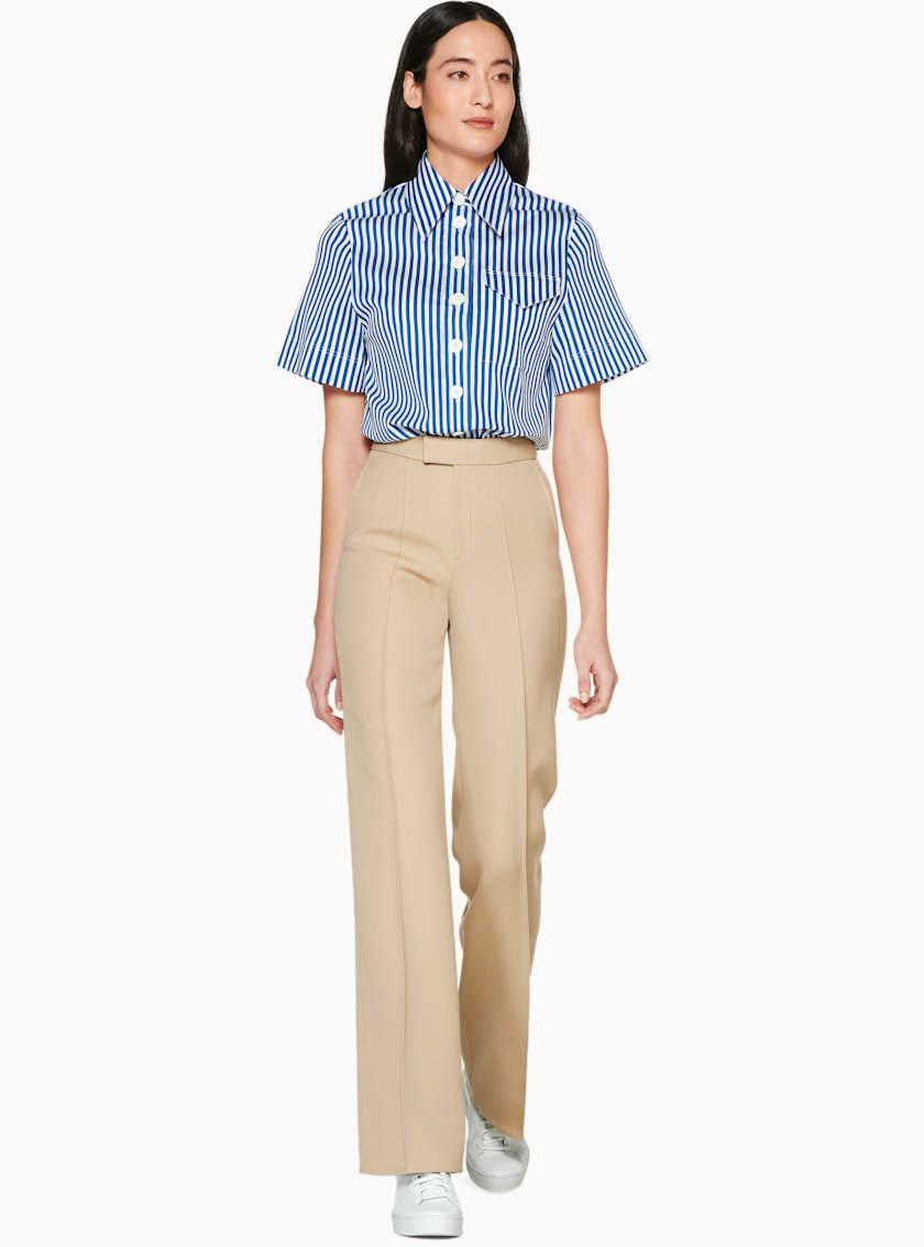 Doyle Blue Striped Short Sleeve Shirt