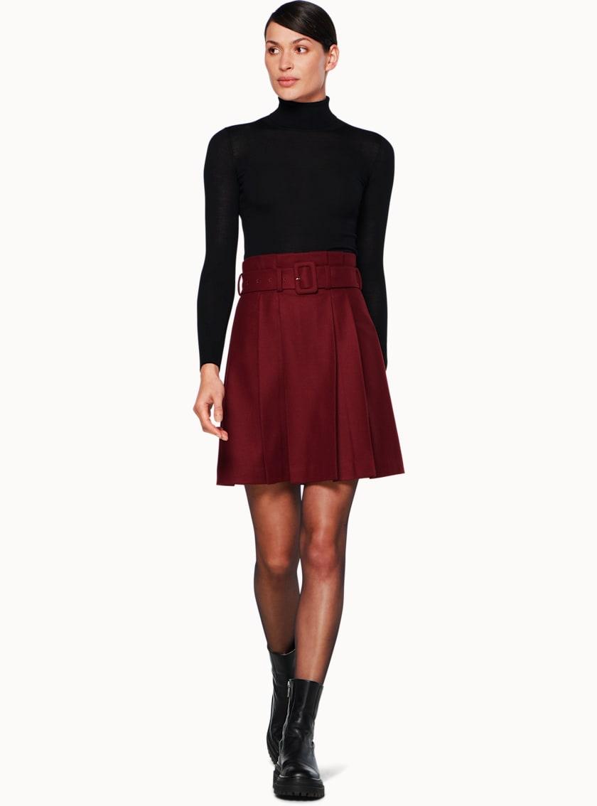 Echo Burgundy  Skirt