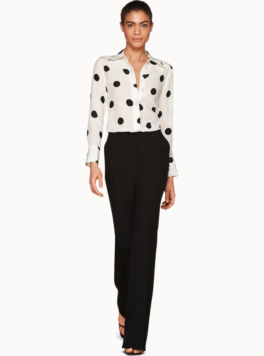 Alec White Dotted Silk Blouse