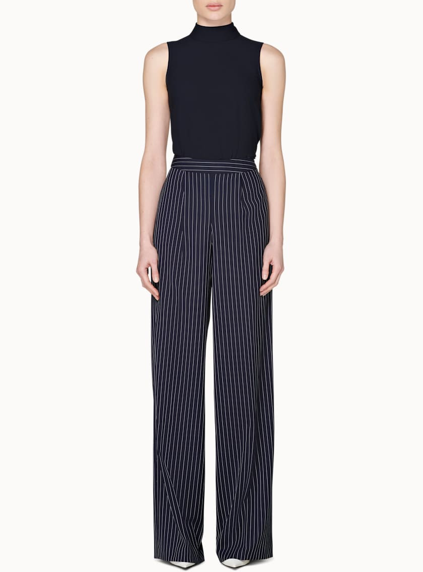 Ally Navy Striped Trousers