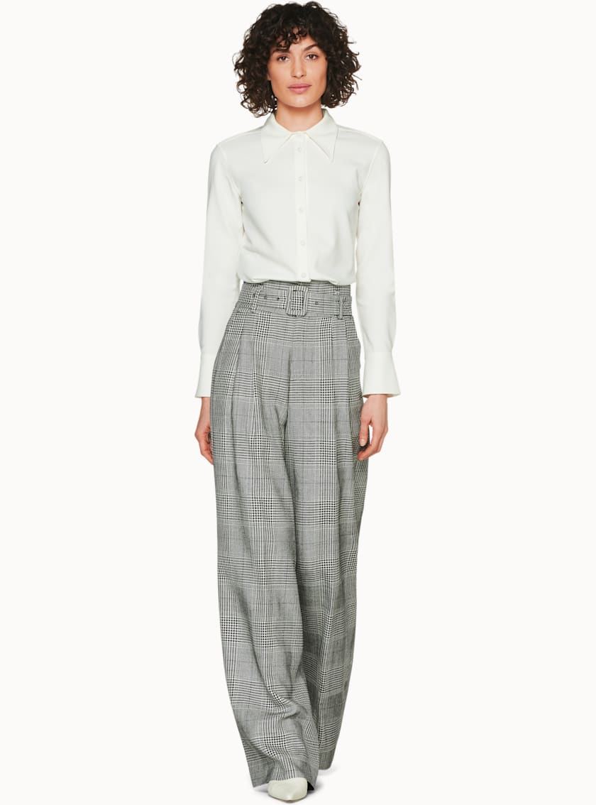Frankie Black & White Checked Trousers