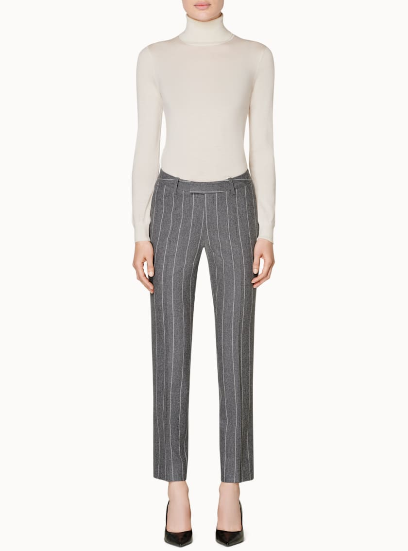 Robin Grey Striped Trousers