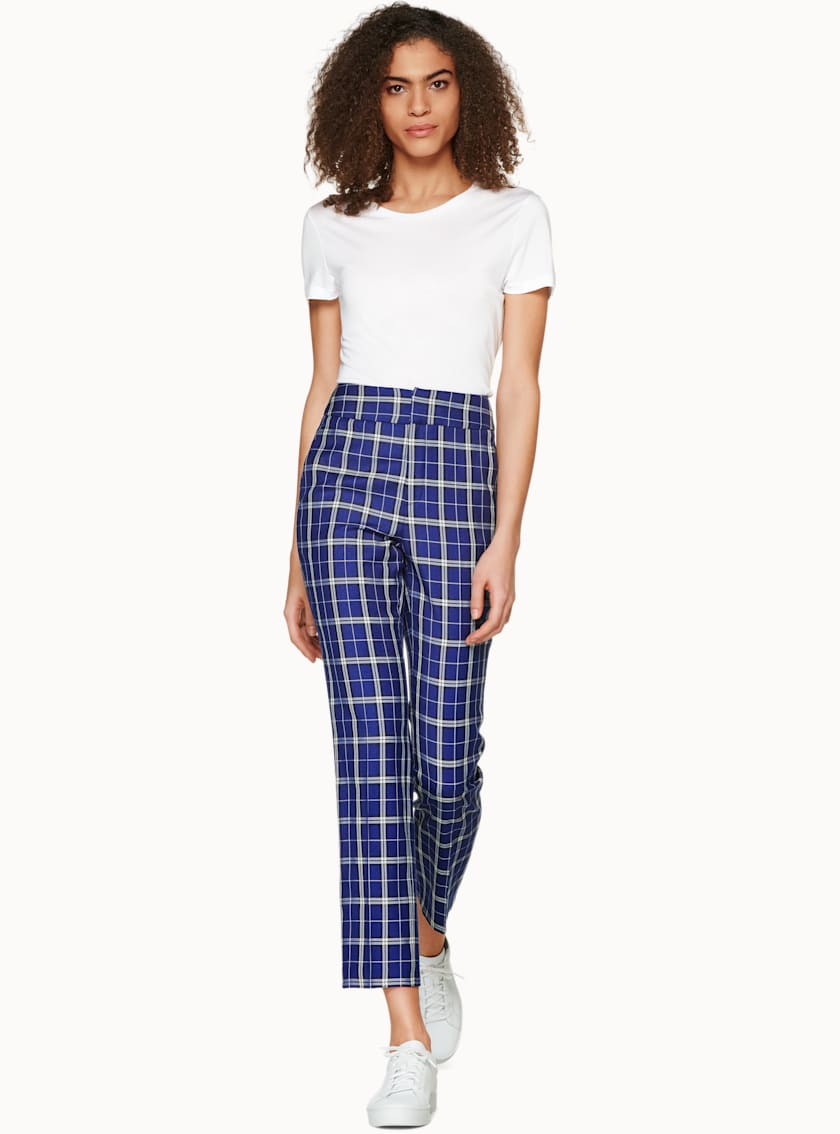 Lane Blue Checked Trousers