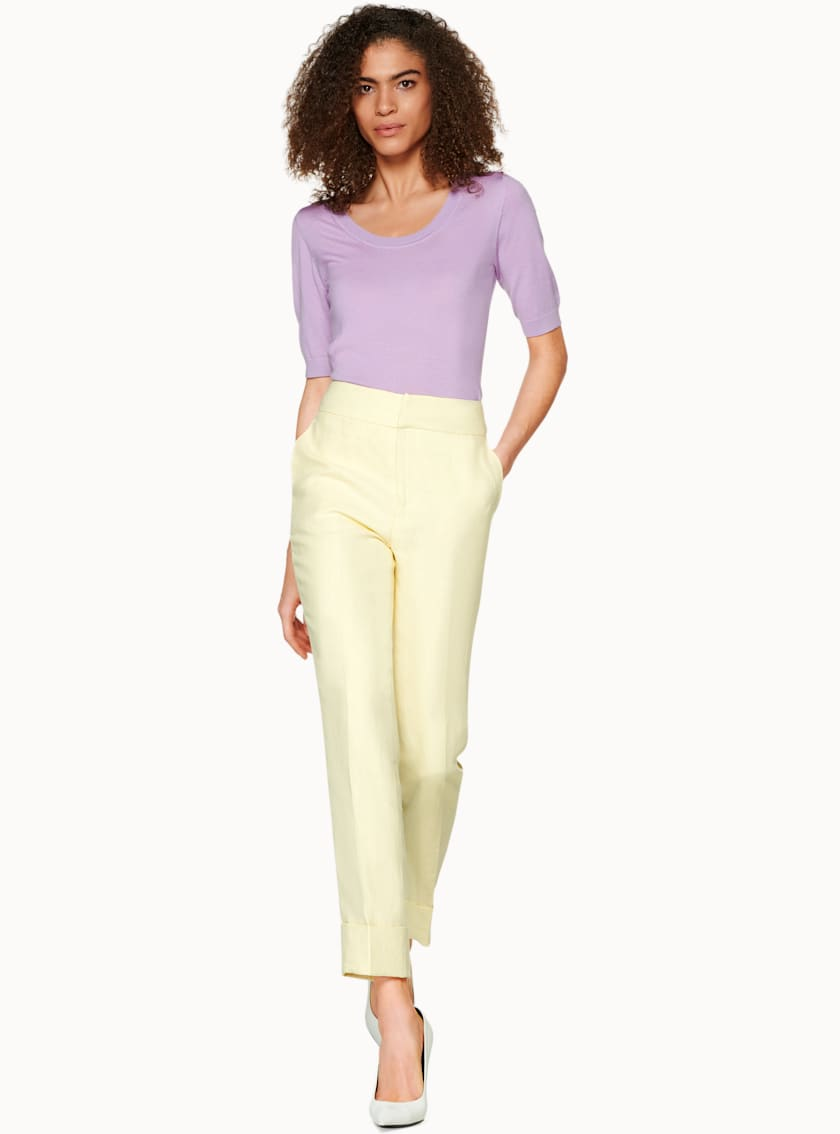 Lane Light Yellow  Trousers