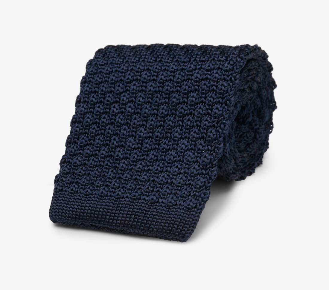 Navy Knitted Tie by Suitsupply