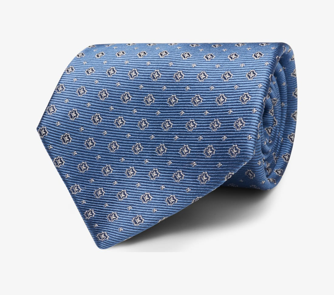 Light Blue Flower Tie