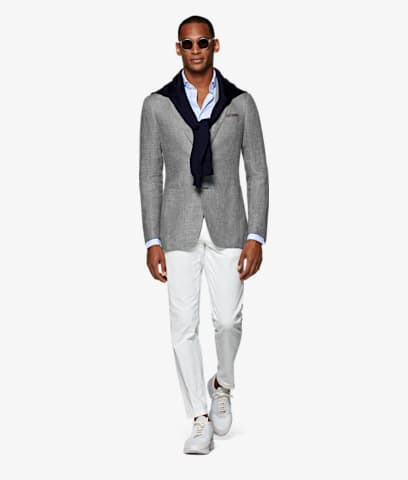 Jacket_Light_Grey_Plain_Havana_C1301