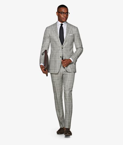 Suit_Light_Grey_Check_Havana_P5733I