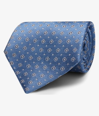Light Blue Flower Tie