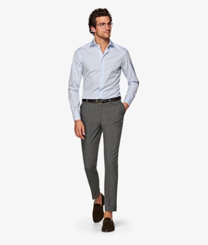 Grey_Brescia_Turn_Up_Slim_Fit_Trousers_B402SF
