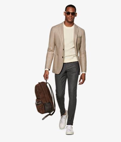 Grey_Brescia_Turn_Up_Slim_Fit_Trousers_B810