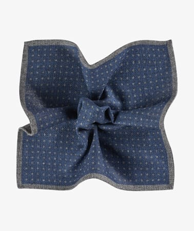 Blue Dot Pocket Square Double Sided