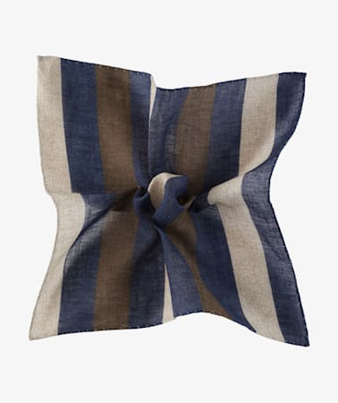 Brown Stripe Pocket Square