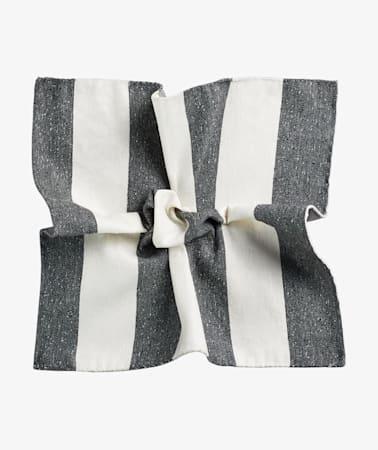 Grey Stripe Pocket Square