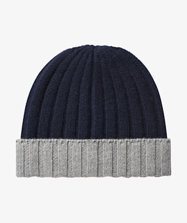 Navy & Light Grey Beanie