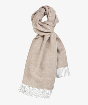 Grey Double Face Scarf