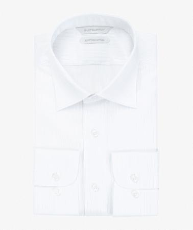 White Stripe Twill Shirt