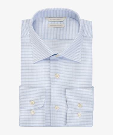 Blue_Check_Shirt_Single_Cuff_H5950U