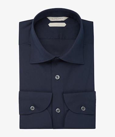 Navy Poplin Shirt