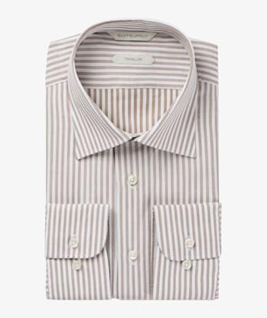 Brown Stripe Traveller Shirt