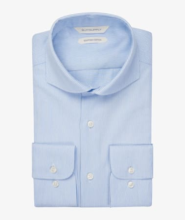 Light Blue Faux Uni Shirt
