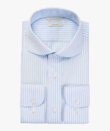 Light Blue Stripe Traveller Shirt