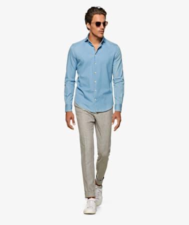Blue_Twill_Denim_Shirt_Single_Cuff_H9061U