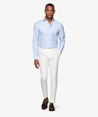 Light Blue Oxford Traveller Shirt