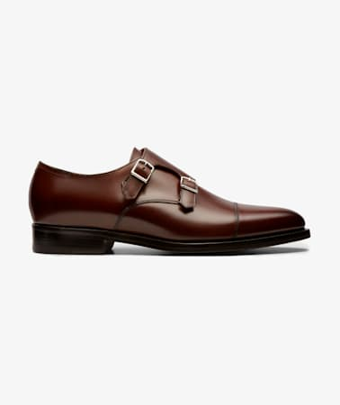 Dark Brown Double Monk Strap