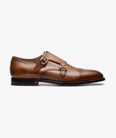 Cognac Double Monk Strap