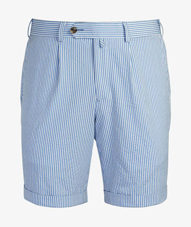Light Blue Bennington Pleat Shorts