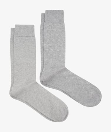 Grey Regular Socks 2 Pack