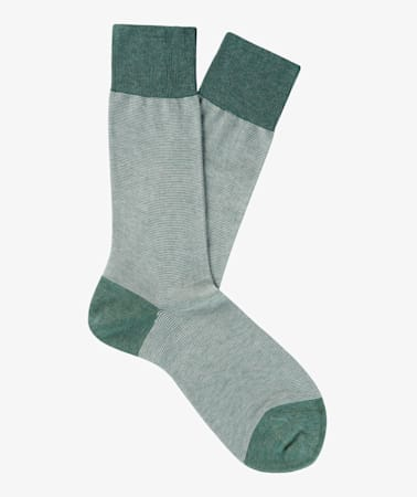 Green Regular Socks