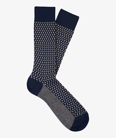 Navy Long length Socks