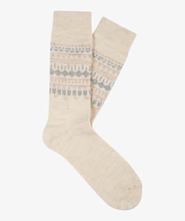 Beige Long length Socks