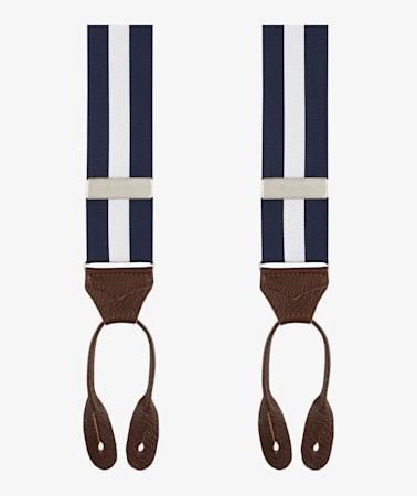 Navy Suspenders Jort