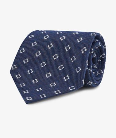 Navy Square Tie
