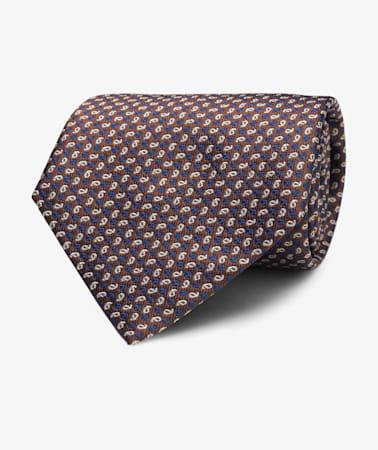 Brown Paisley Tie