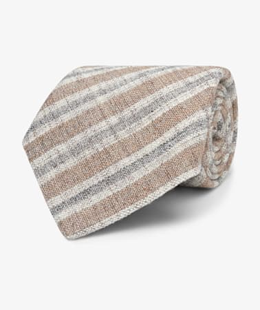 Light Brown Stripe Tie