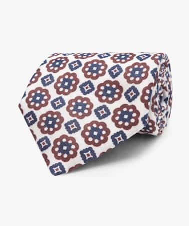 Burgundy Flower Tie