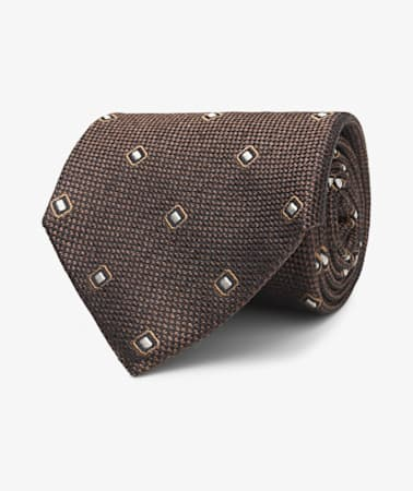 Brown Diamond Tie