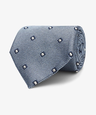 Light Blue Diamond Tie
