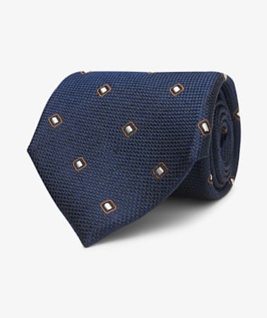 Navy Diamond Tie