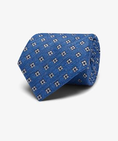 Navy Flower Tie
