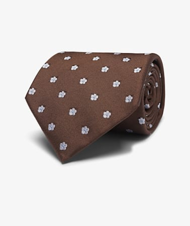 Brown  Flower Tie