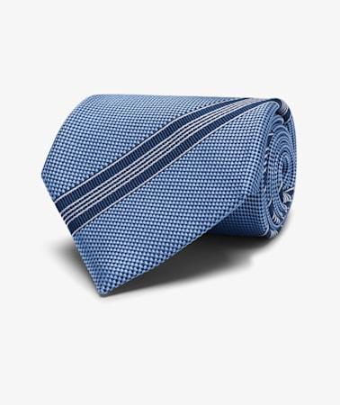 Light Blue  Stripe Tie