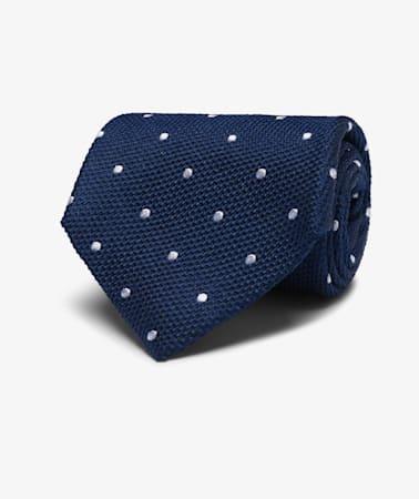Navy  Dots Tie