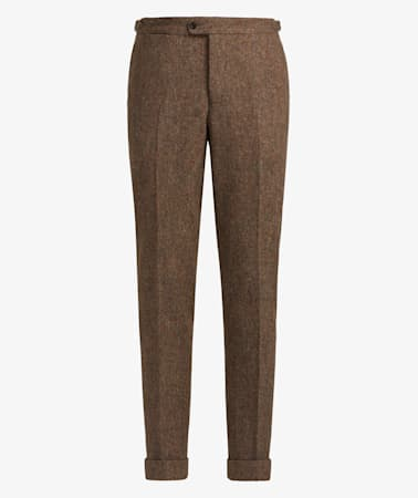 Jort Brown Bolton Fishtail Trousers