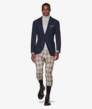Jort Light Brown Plus Four Trousers